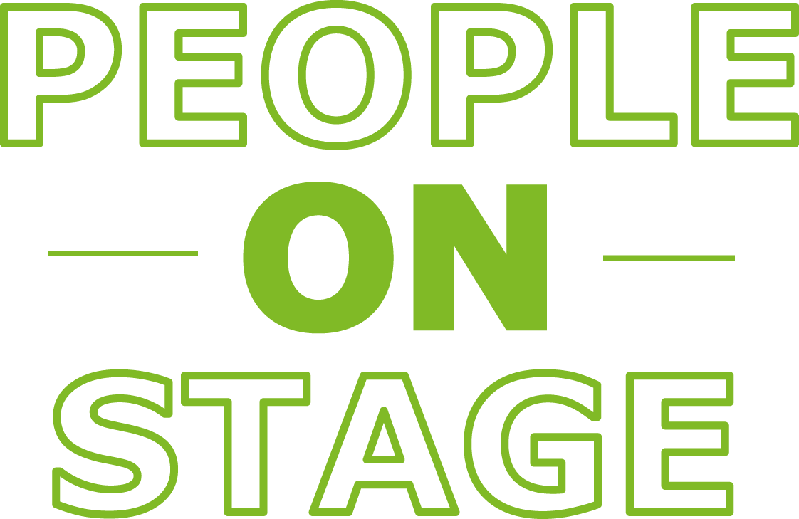 People on stage logo